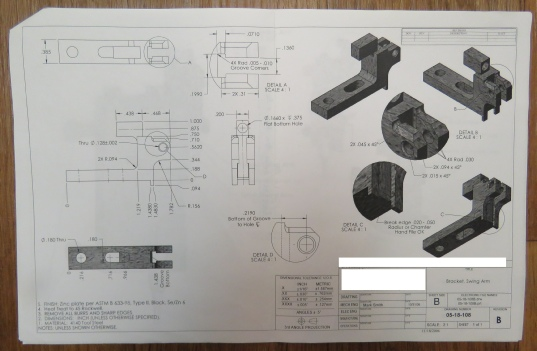 Radlink: Bracket drawing