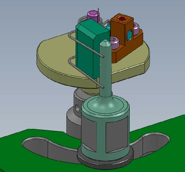 Spring Torque Fixture: Showing the adustable stop so that if needed it can test other spring styles.