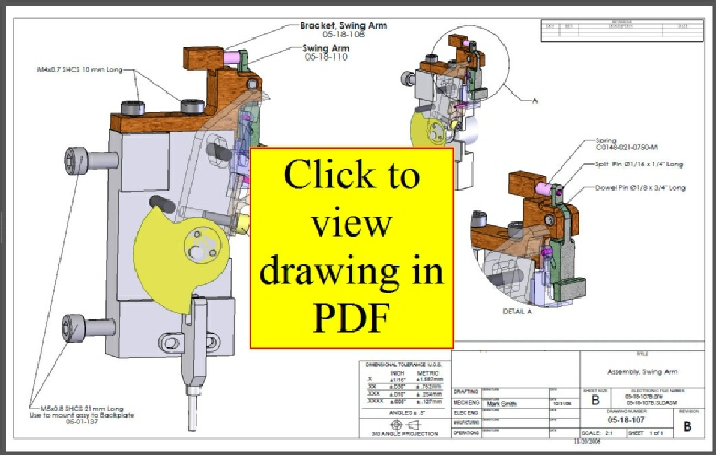 Radlink: Swing Arm Assembly Drawing