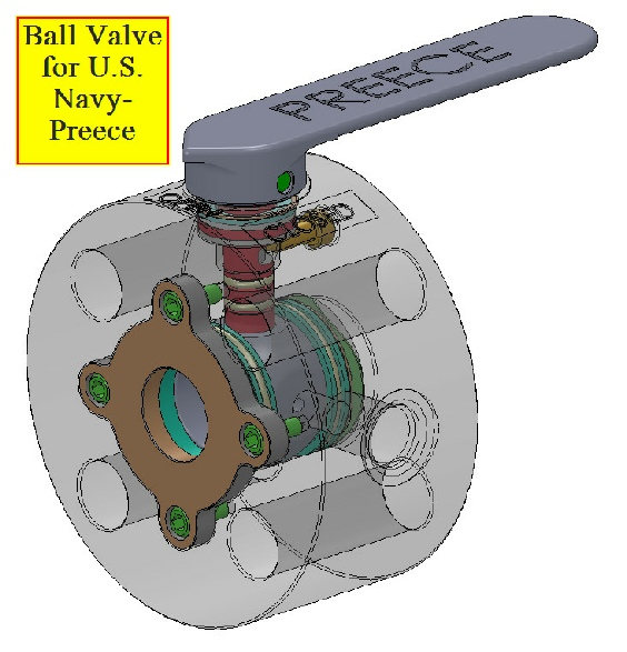Preece: Ball valve for Navy. Drawing for Body is below.