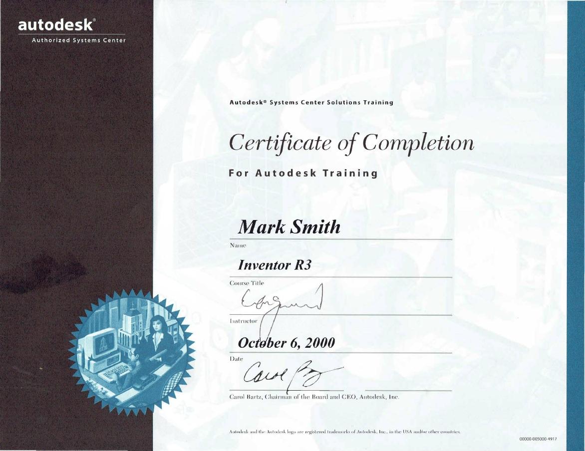 Certificates and diplomas cad autodesk inventor xflitez Gallery