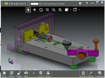 Double-Click to activate the 3D SolidWorks eDrawing Model